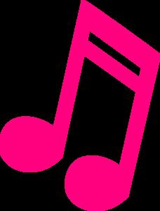 228x300 Hot Pink Music Note Clip Art