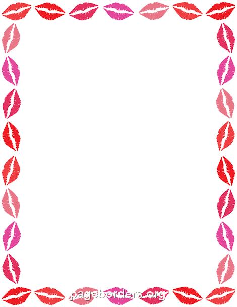 470x608 Lips Border Clip Art, Page Border, And Vector Graphics