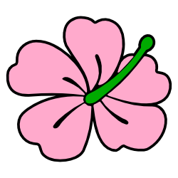 250x250 Pink Hibiscus Flower Clip Art Free Borders And Clip Art