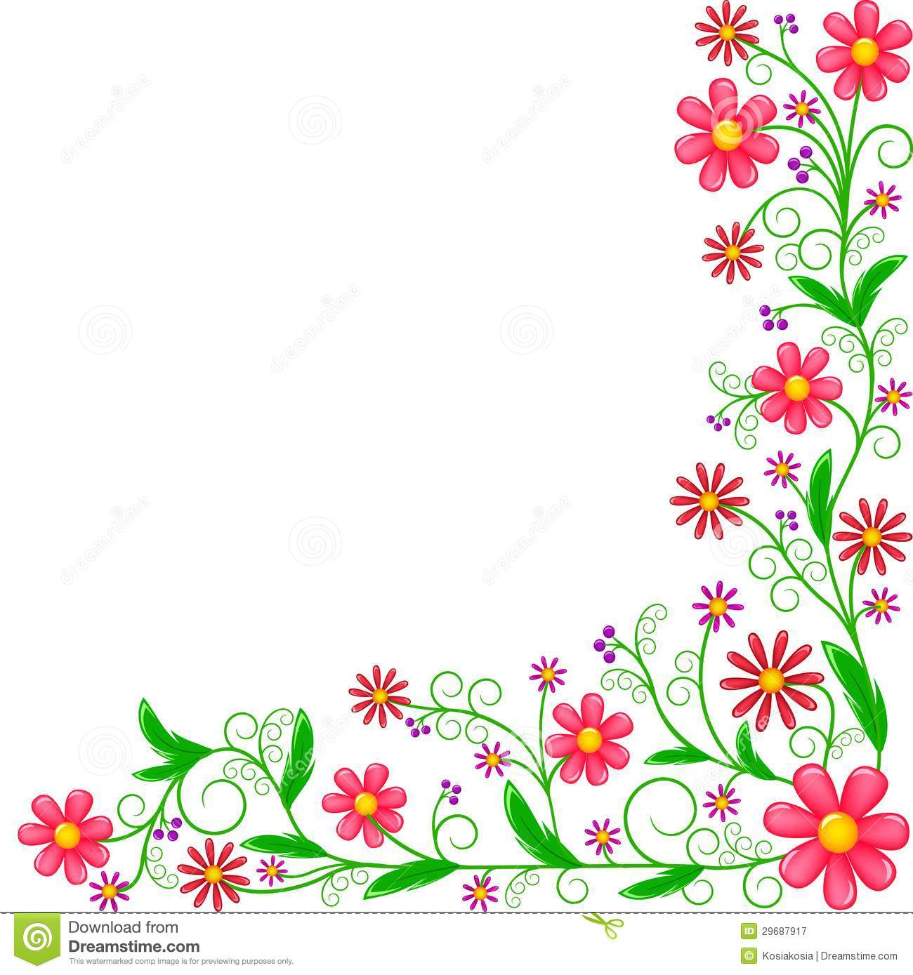 1300x1389 Colorful Corner Border Clip Art Floral Corner Ornament 29687917