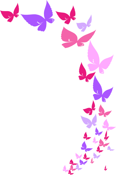 396x596 Free Butterfly Clipart Borders