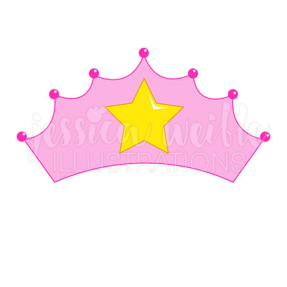 570x570 Pink Princess Crown Cute Digital Clipart, Princess Crown Clip Art