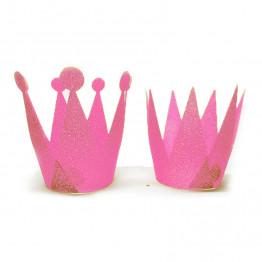 262x262 Glitter Crowns Diy Party Accessories (6pcs)