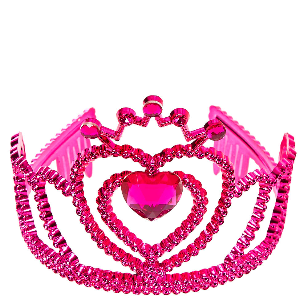1000x1000 Kids Queen Of Hearts Pink Tiara Claire'S