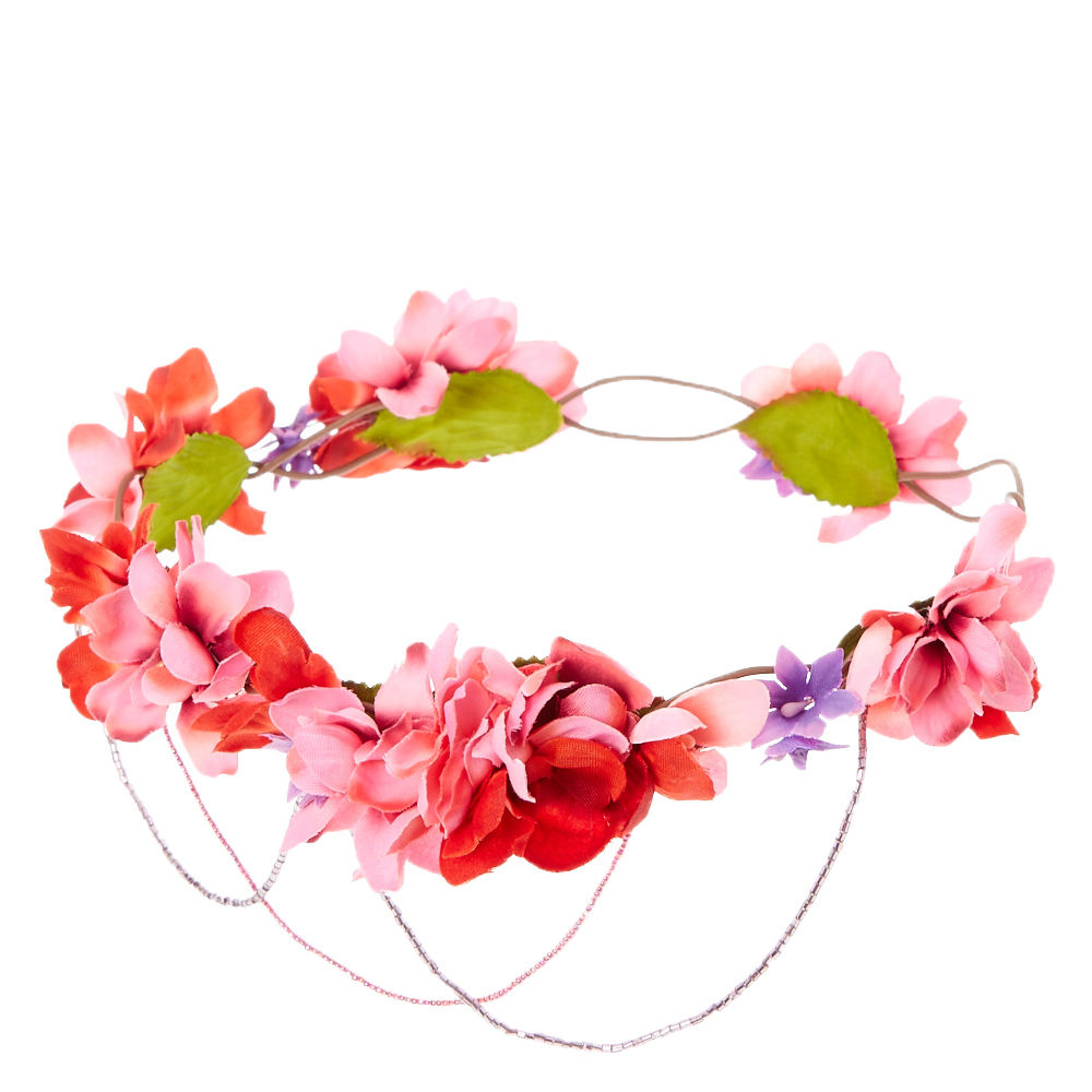 1000x1000 Pink Ombre Bead Swag Flower Crown Claire'S