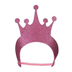 300x300 10 Pink Foamies Princess Tiara Glitter Crowns Birthday