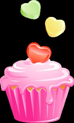 240x400 Cupcake Clipart Pink Cupcake