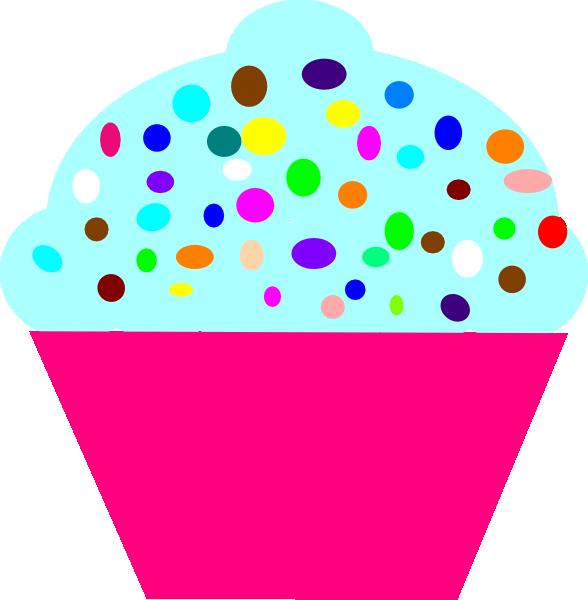 588x600 Cupcake Pink Clip Art