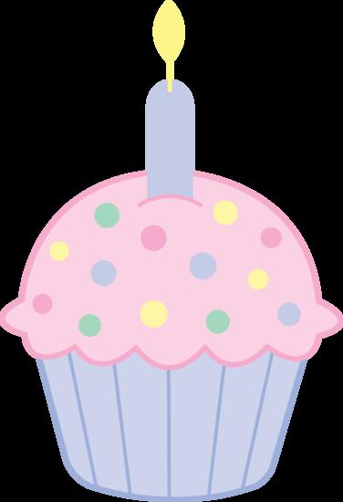 376x550 Cute Pink Birthday Cupcake