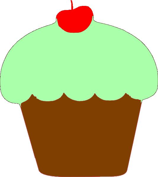 534x600 Orange Birthday Cupcake Clip Art