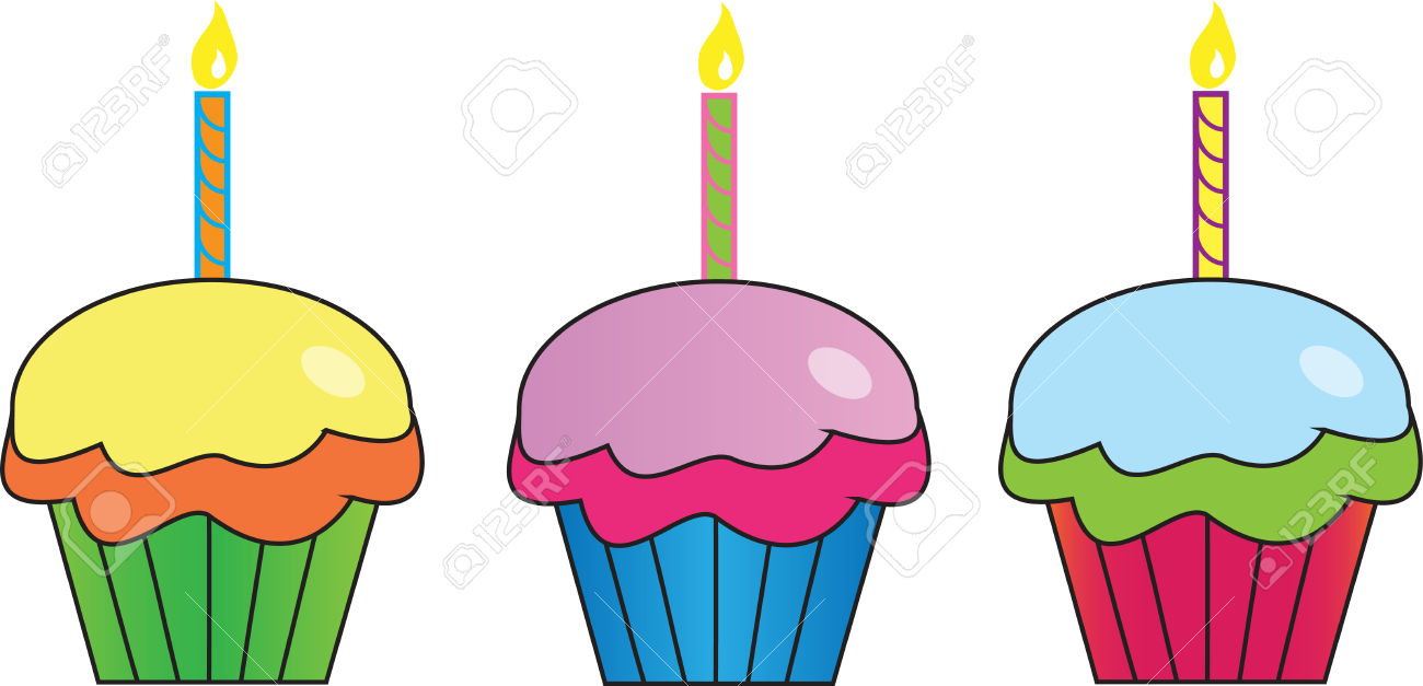 1300x627 Row Of Cupcakes Clipart
