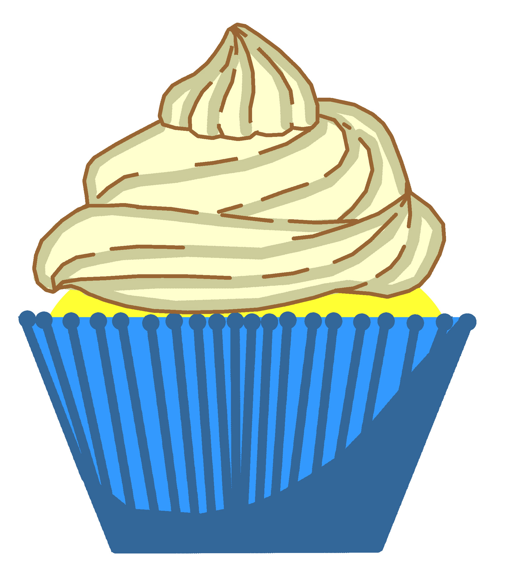 1767x1920 Blue Cupcakes Cliparts 181898