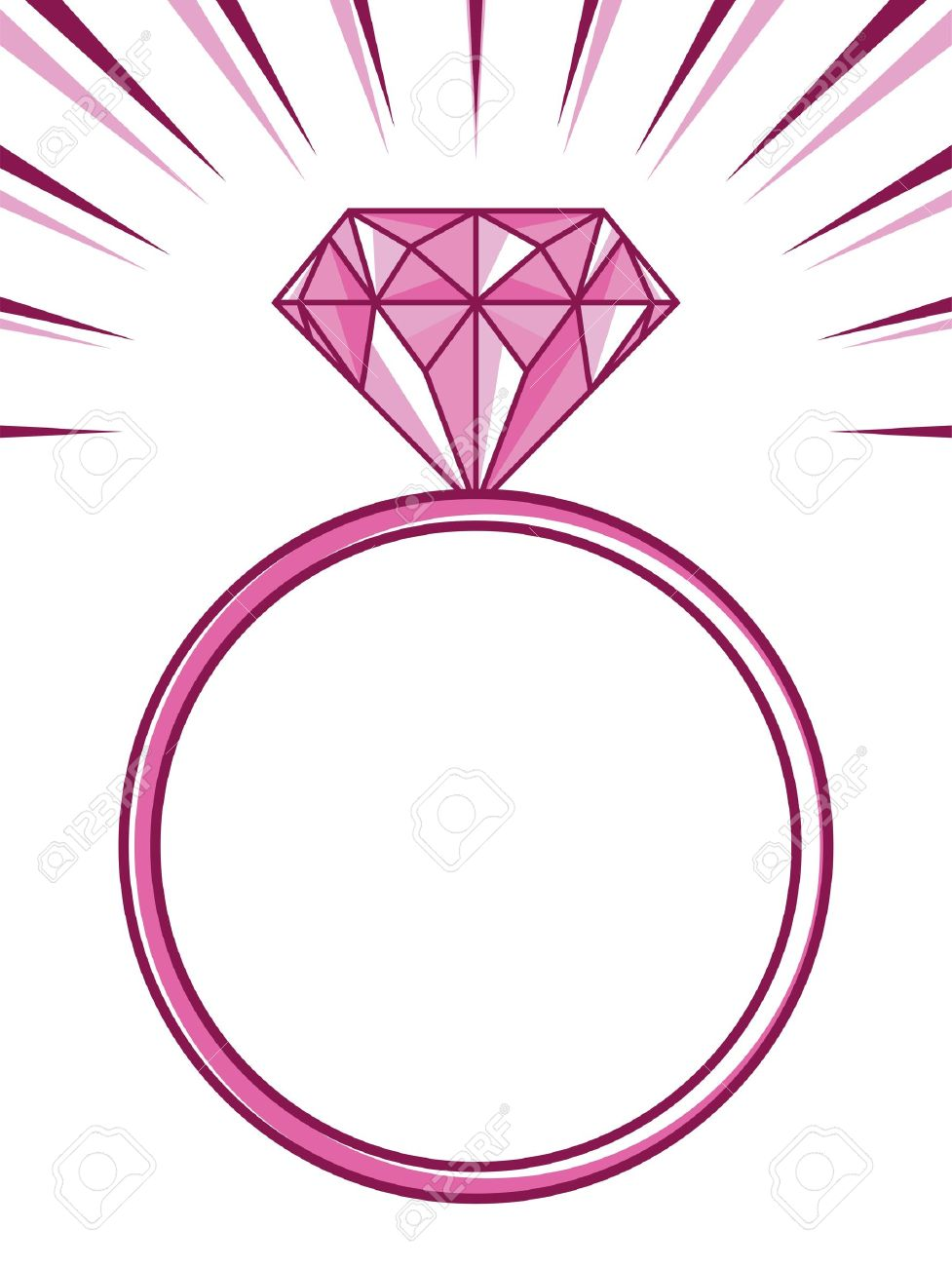977x1300 Pink Wedding Ring Clipart Amp Pink Wedding Ring Clip Art Images