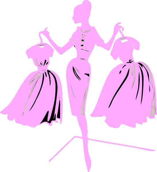 546x598 Fashion Model Pink Dress Clip Art