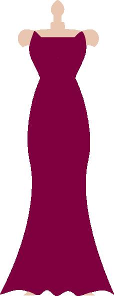 228x593 Pink Dress Clipart Strapless Dress