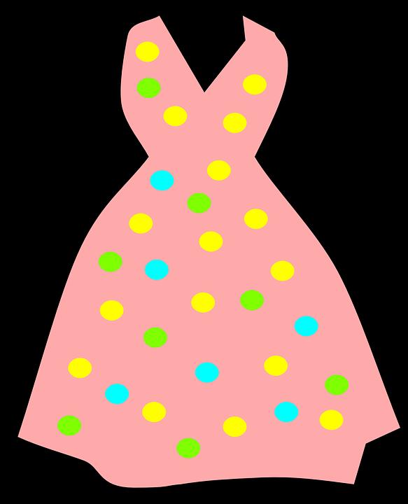 583x720 Pink Dress Clipart Summer Dress