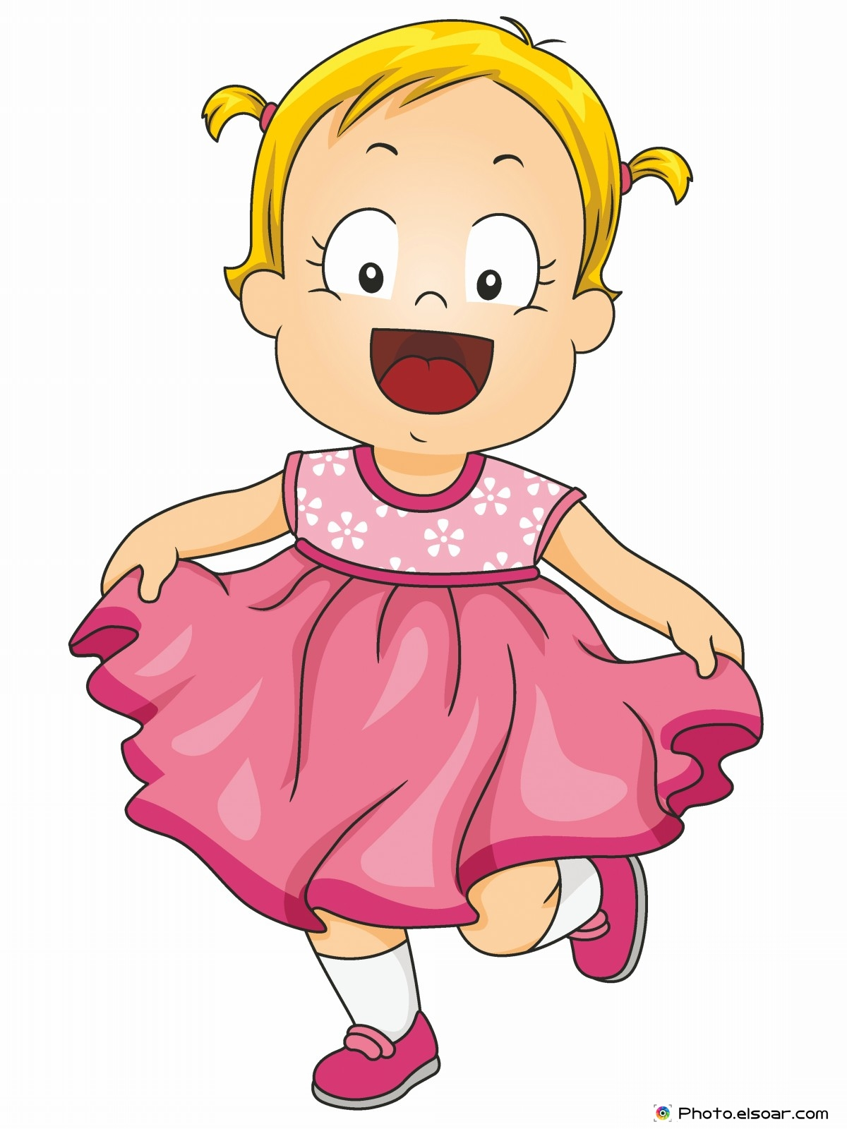 1200x1600 Smiling Little Girl Wearing A Pink Frilly Dress Kids