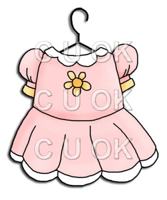 334x400 Baby Dress Clipart