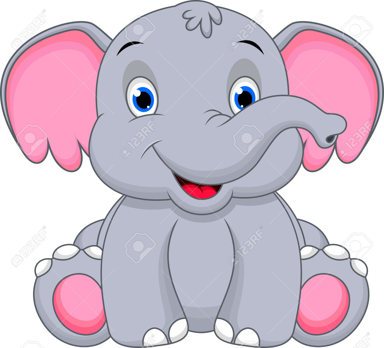 Pink Elephant Clipart | Free download on ClipArtMag