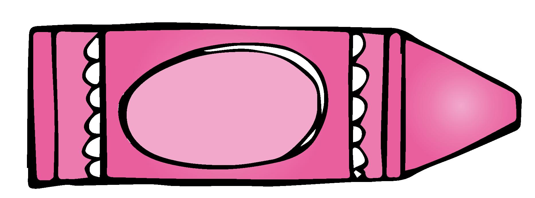 1867x692 Crayon Clipart Pink Crayon