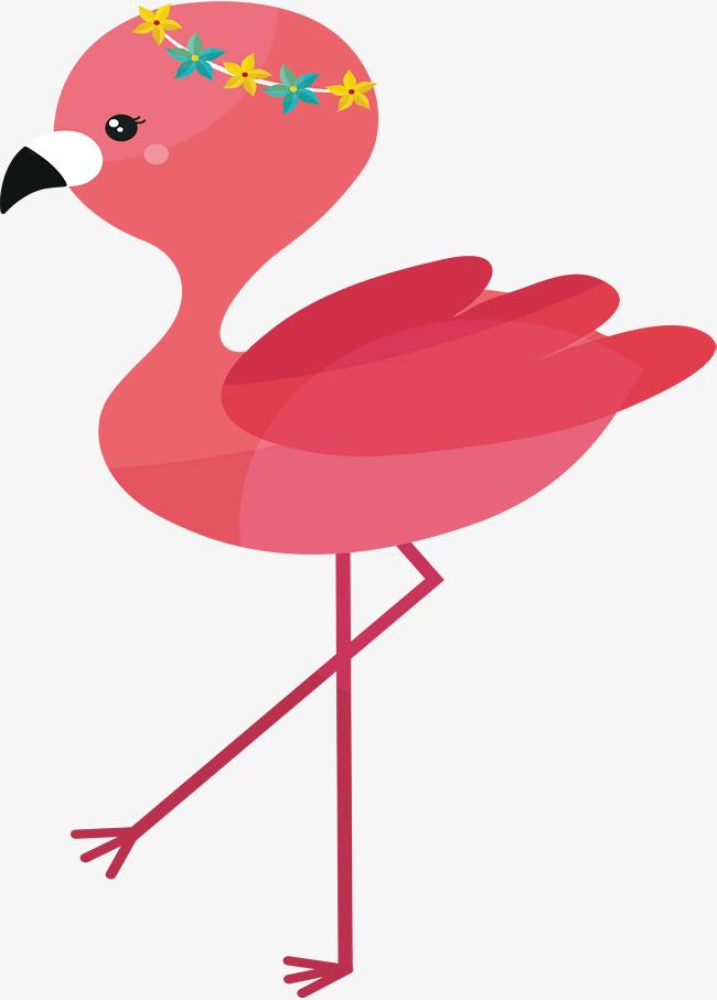 Flamingo kawaii. Pink flamingos clipart free