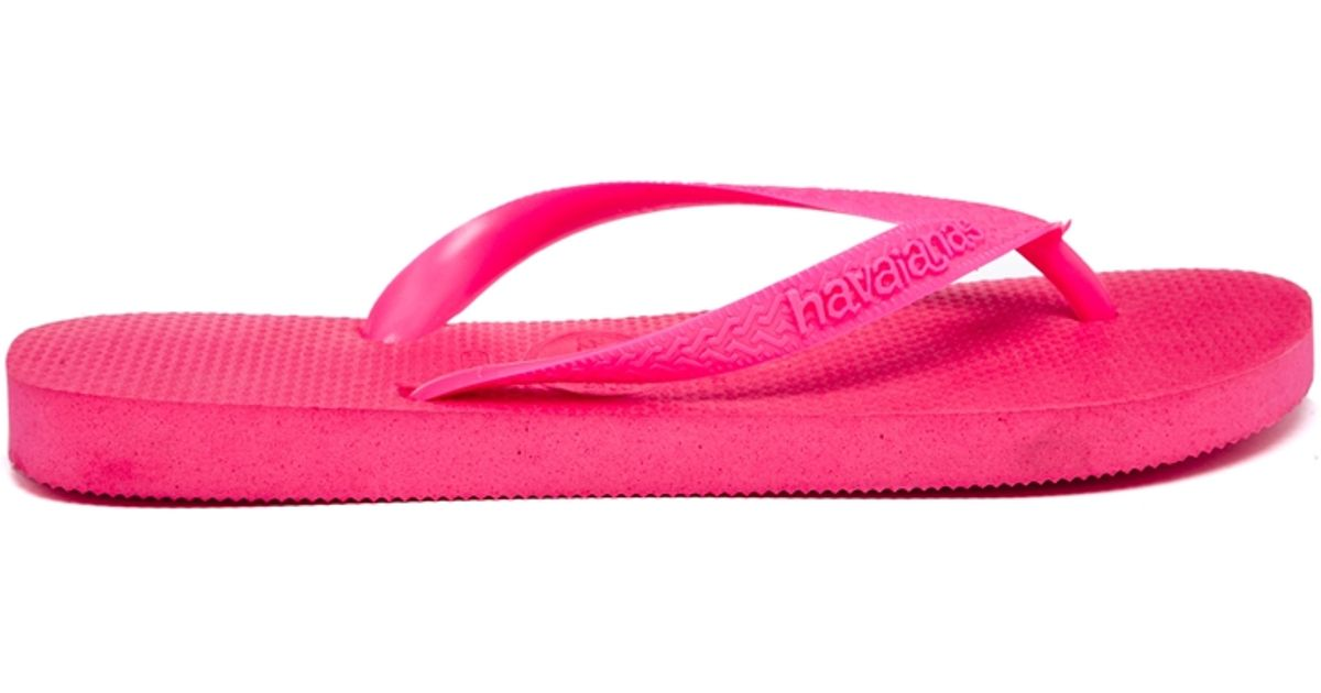 a05a53444 1200x630 Havaianas Top Pink Neon Flip Flops In Pink Lyst