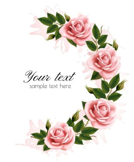 Pink flower borders free download best pink flower borders on 445x539 flower frame with beauty pink flowers vector mightylinksfo