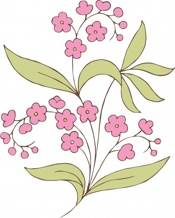 600x749 Free Stock Vector Vintage Pink Flower Amp Clip Art Images Oh So