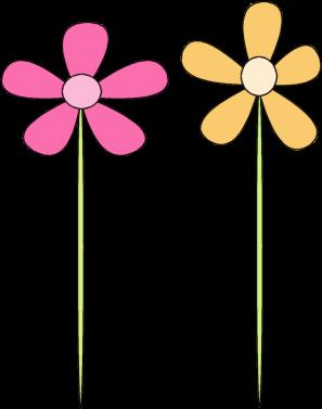 297x377 Pink Flower Yellow Flower Clip Art