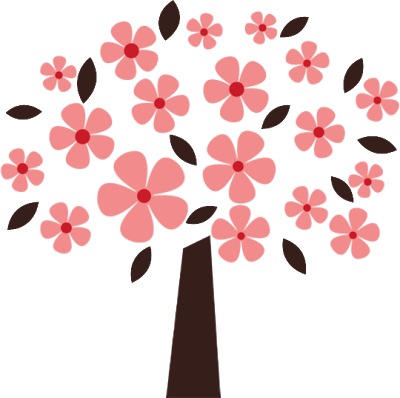 400x398 Pink Flower Clipart Flowering Tree