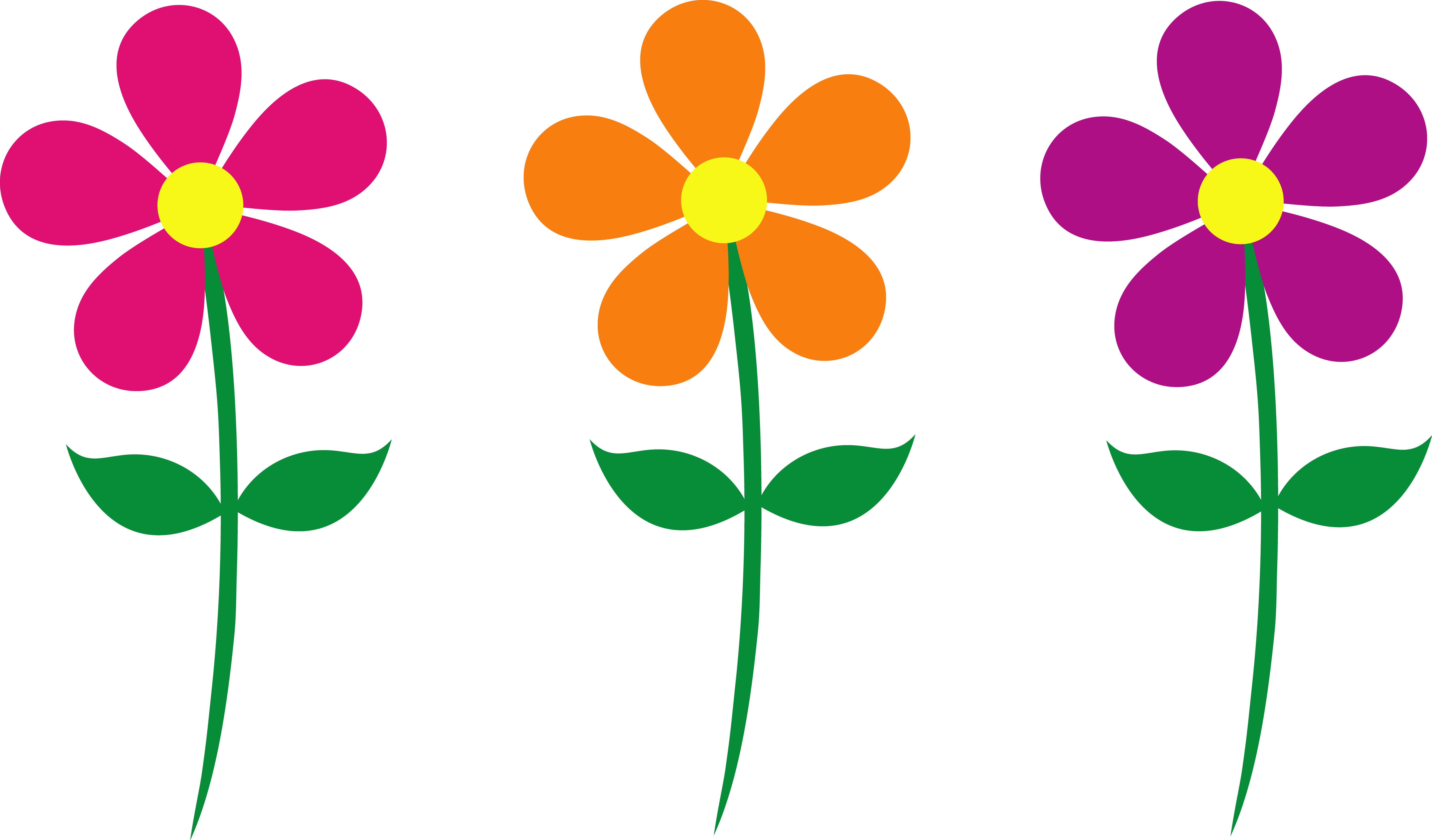 7747x4545 Pink Flower Clipart Orange Flower