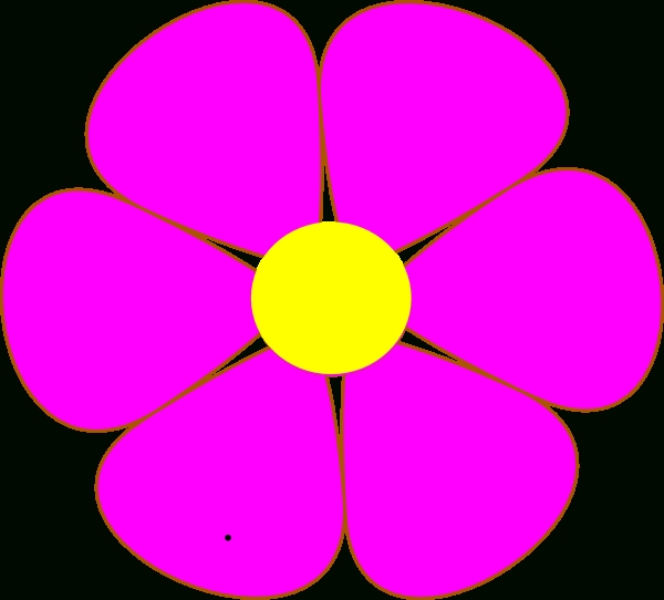 600x542 Pink And Purple Flower Clipart Clipart Panda