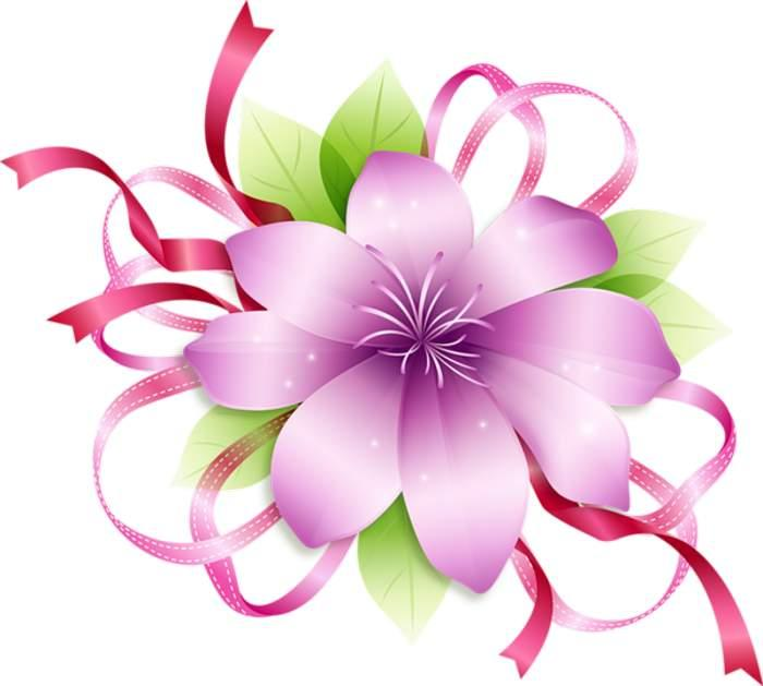 Pink flowers clipart free download best pink flowers clipart on 700x629 pink flower borders clip art 68 mightylinksfo Images