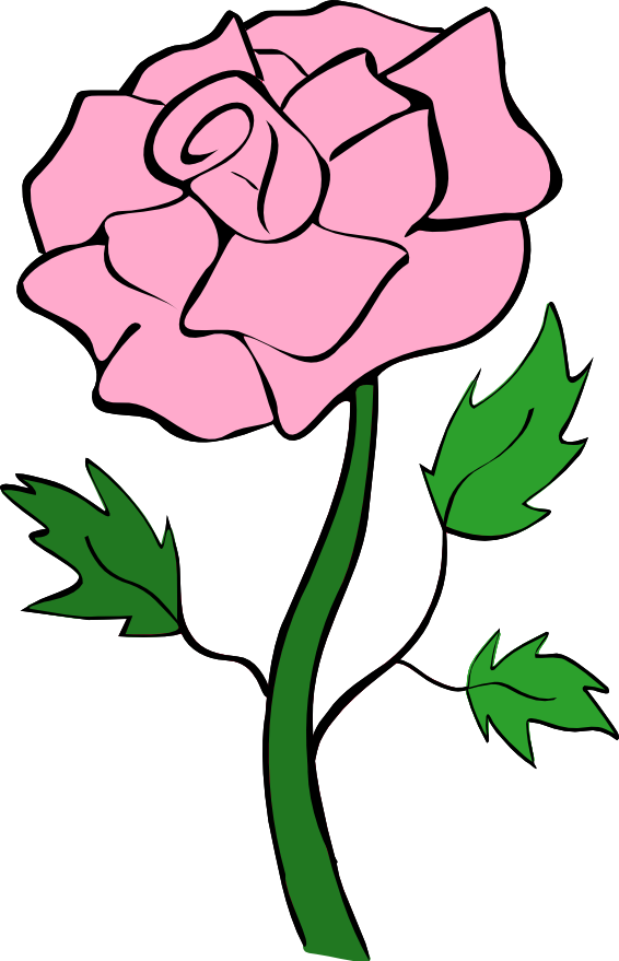 Pink flowers clipart free download best pink flowers clipart on 566x879 pink rose clip art mightylinksfo