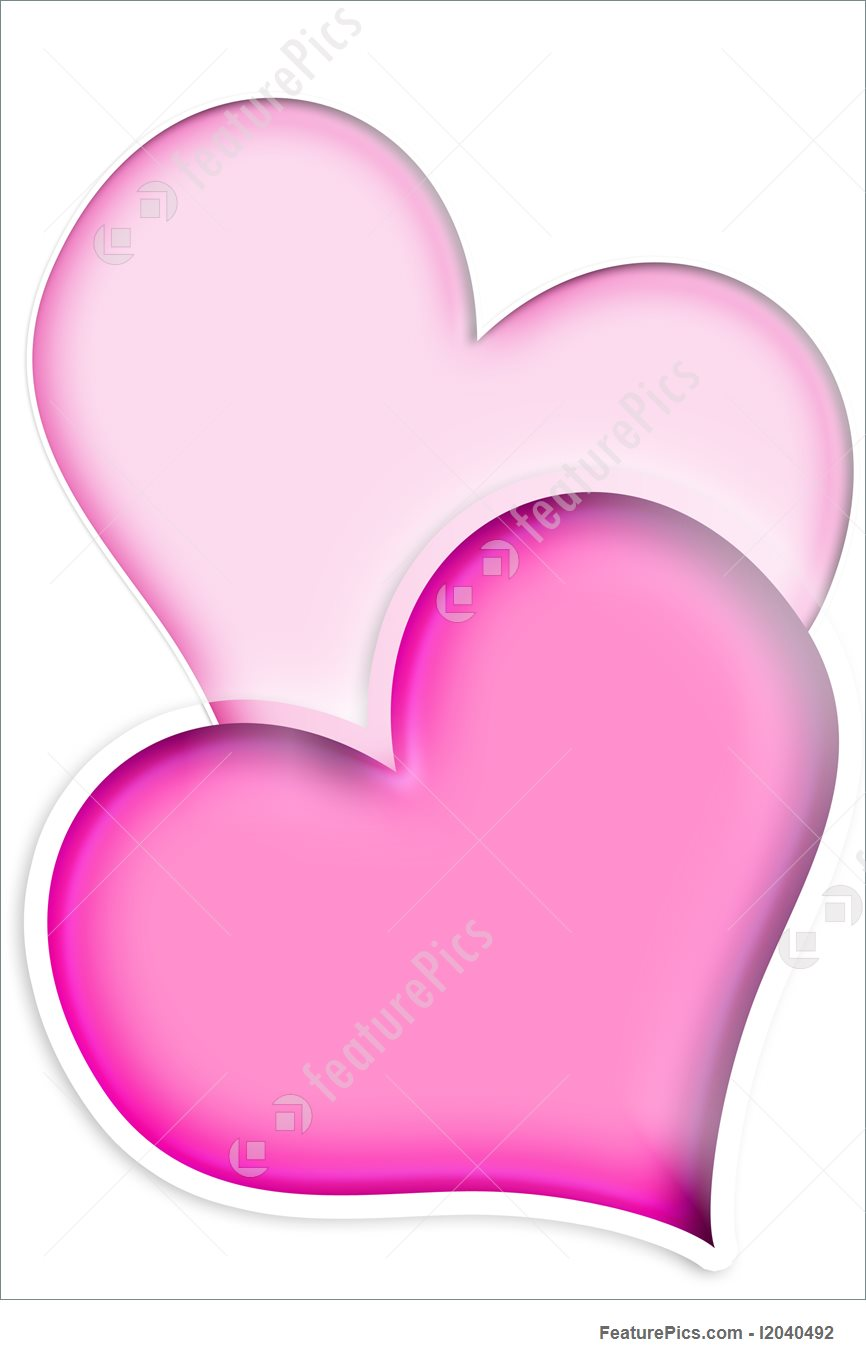 866x1360 Laufuhr Test Images Two Pink Heart Clip Art