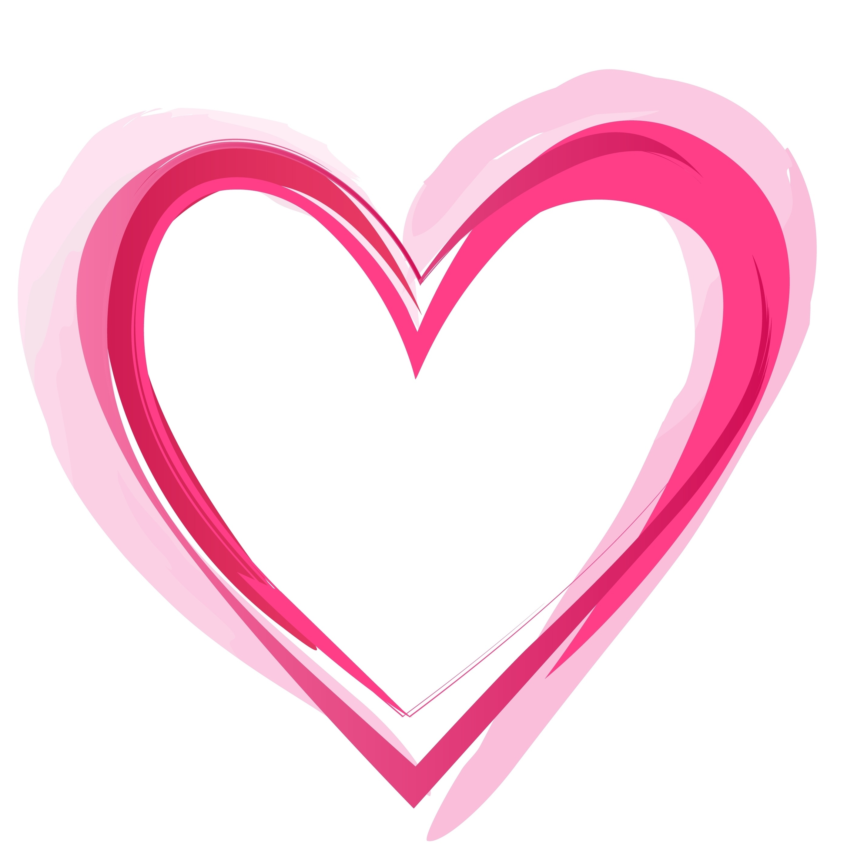 Heart Outline Images, Stock Photos & Vectors | Shutterstock |Pink Heart Outline Clipart