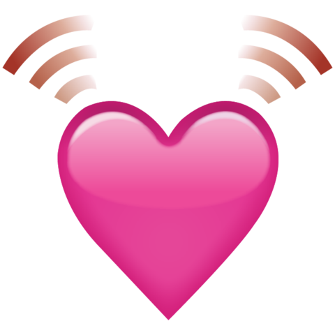 480x480 Beating Pink Heart Emoji Png