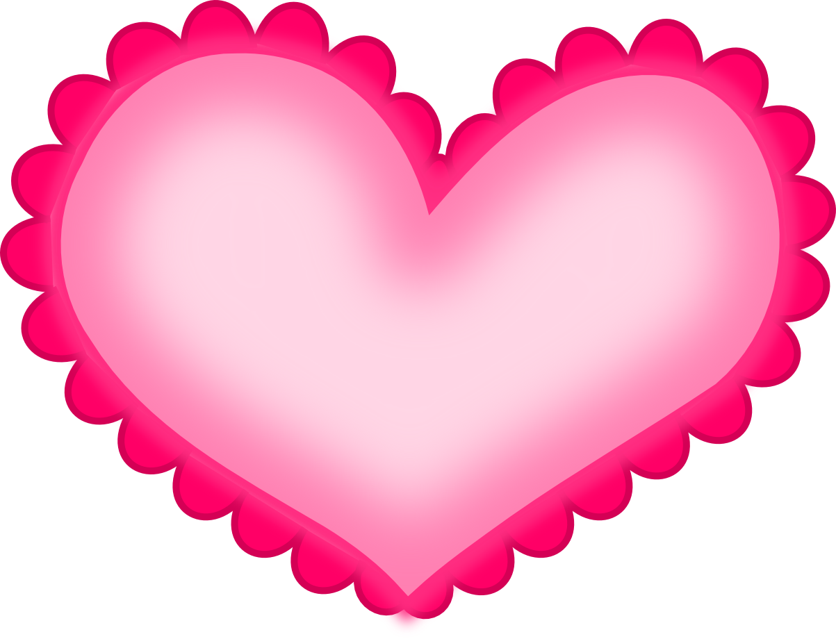 1203x920 Hot Pink Heart Png Hd Png Mart