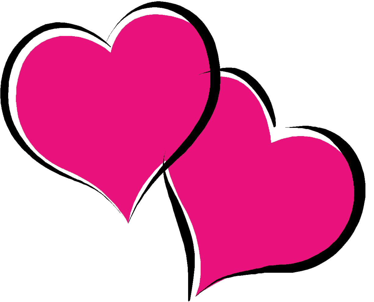 1227x992 Hot Pink Heart Png Pic Png Mart