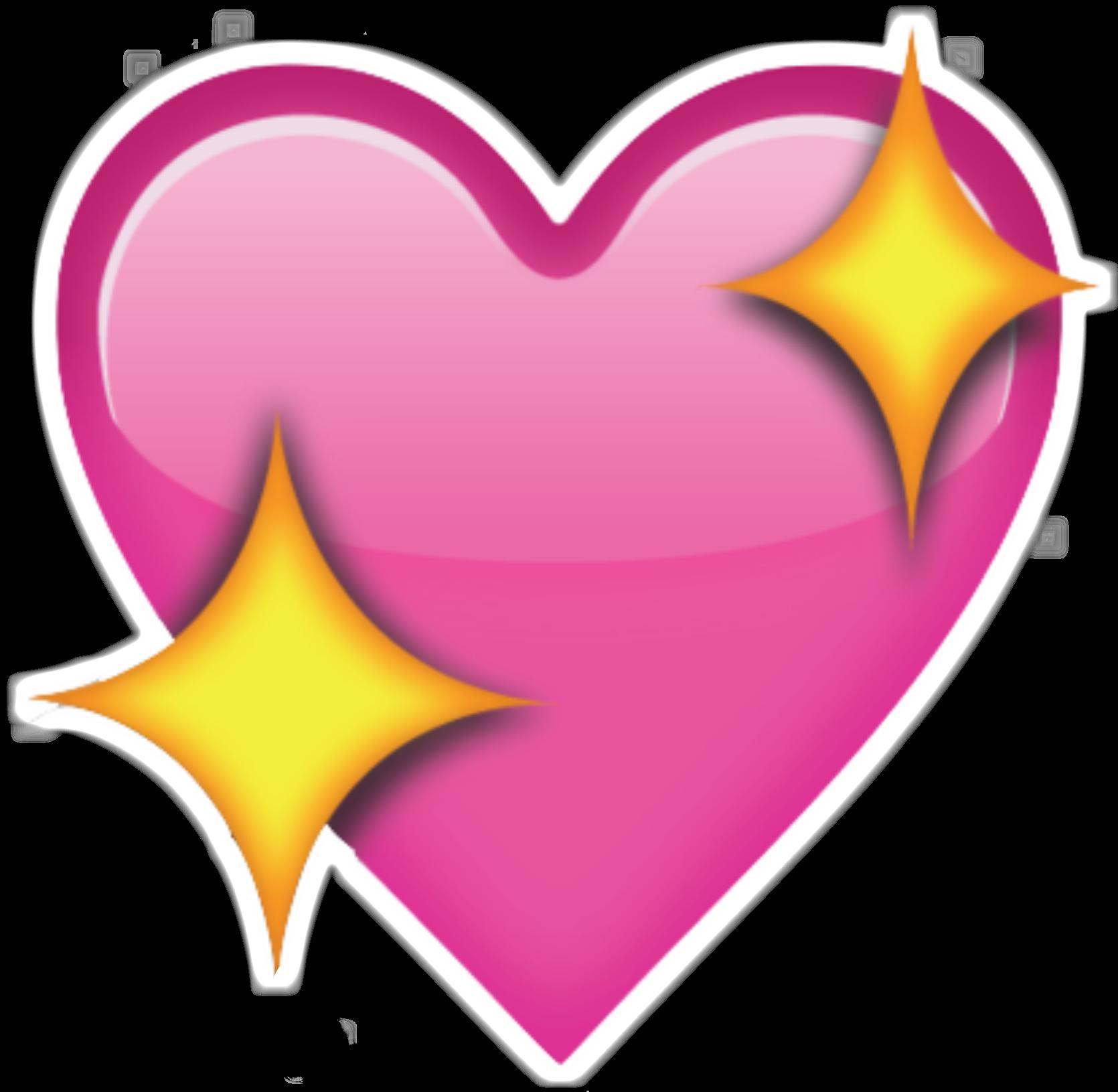 1670x1631 Pink Emoji Heart Png