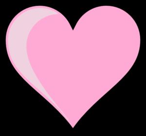 300x279 Pink Heart Clip Art