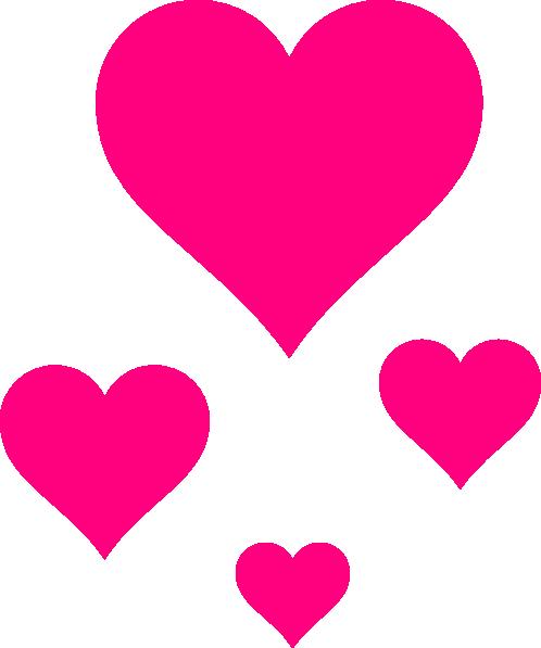 498x597 Pink Hearts Clip Art