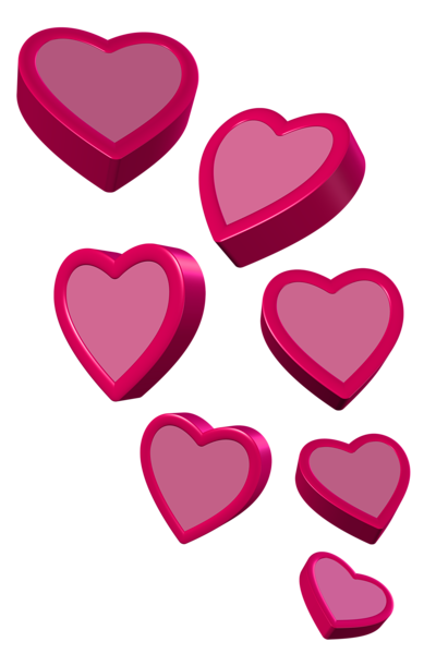389x600 Pink Hearts Png Clipart Picture Corazon Mio 1