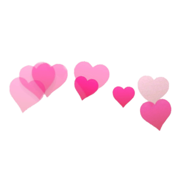 400x400 Snapchat Filter Hearts Transparent Png