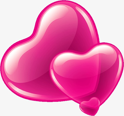 522x490 Pink Heart Shaped Balloons, Pink, Heart Shaped, Balloon Png Image
