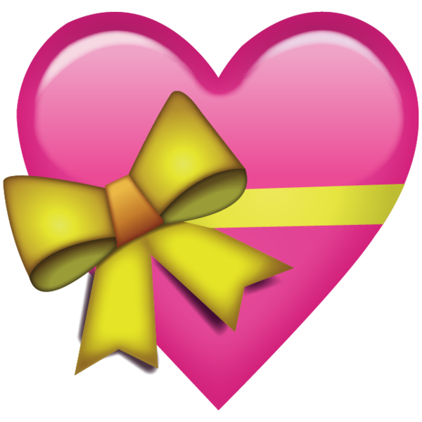600x600 Download Pink Heart With Ribbon Emoji Icon Emoji Island