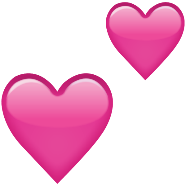 600x600 Download Two Pink Hearts Emoji Icon Emoji Island