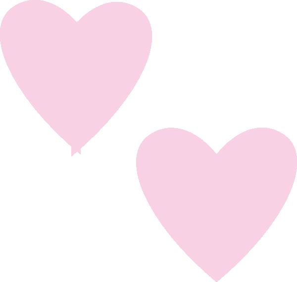 600x570 Light Pink Heart Clipart