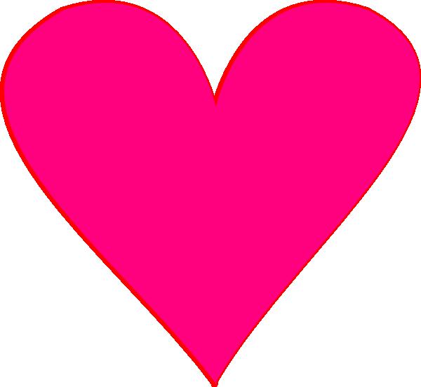 600x552 Pink Heart Clip Art