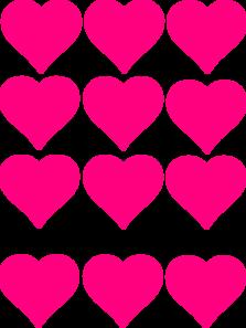223x297 Pink Hearts Clip Art
